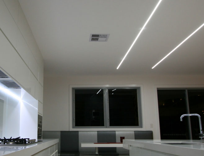 Ceiling Strip Lighting For Kitchens Democraciaejustica - Led strip lights for kitchen ceiling